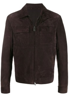 Ermenegildo Zegna zipped-up leather jacket