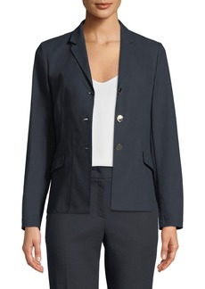 Escada 3-Button Unlined Jacket with Side Slits