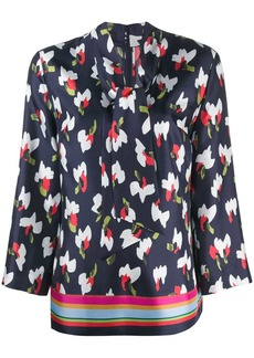 Escada abstract print blouse