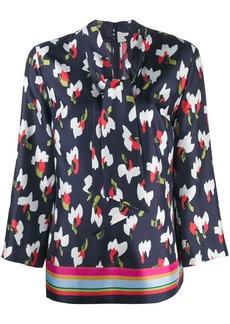 Escada abstract print blouse