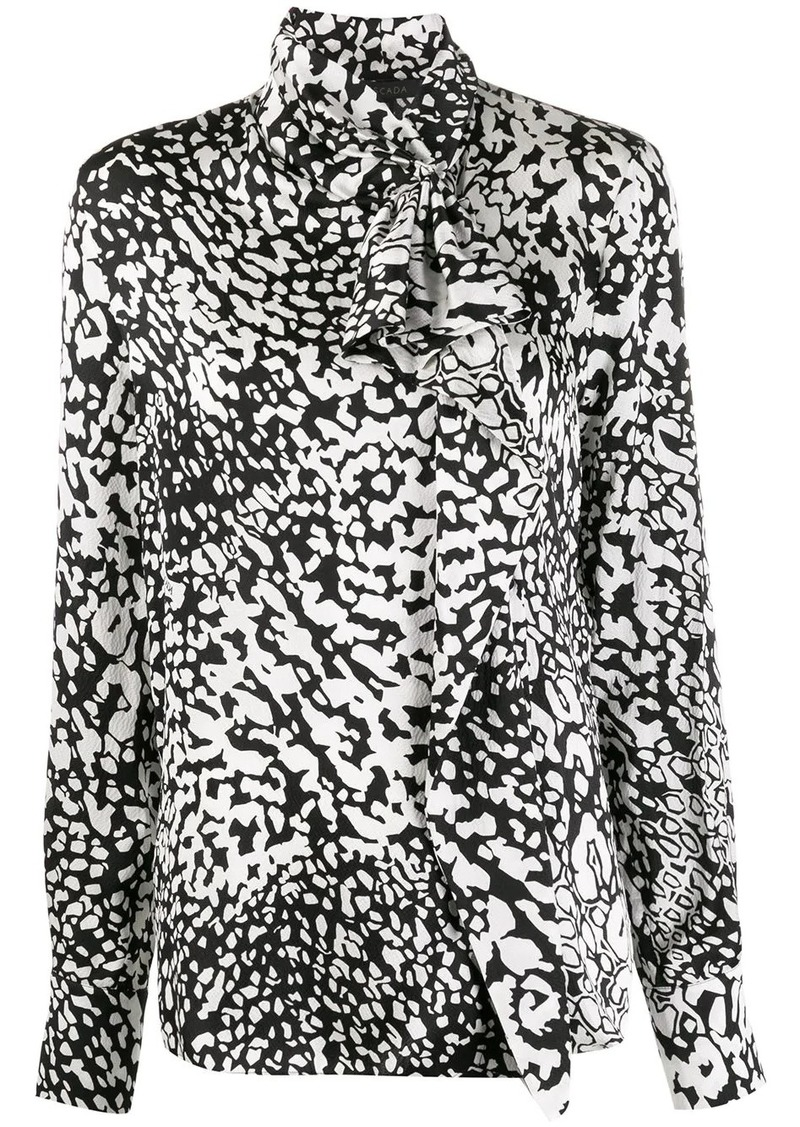 Escada abstract-print mock-neck blouse