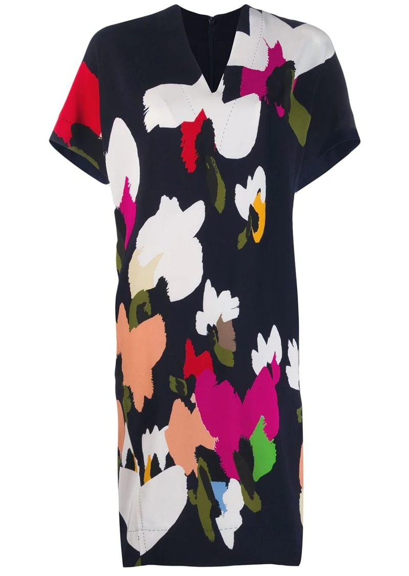 Escada abstract print shift dress