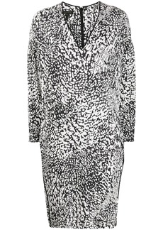 Escada abstract-print trimmed dress