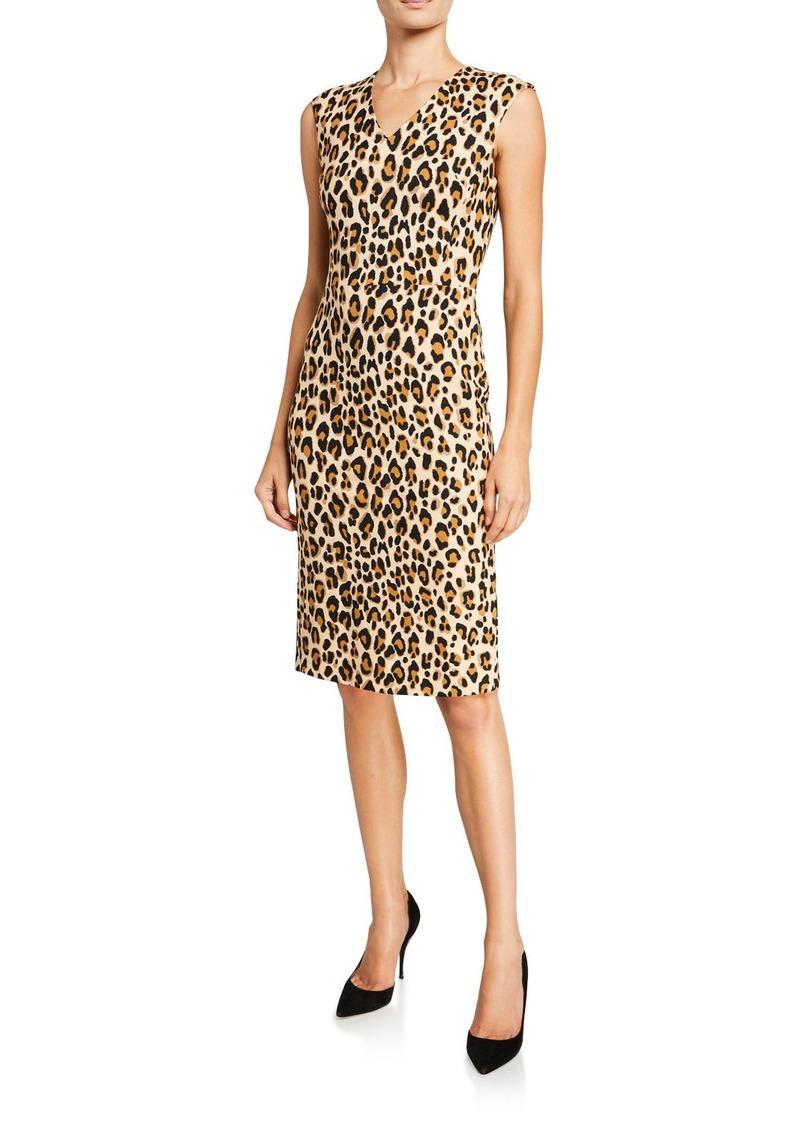Escada Danhi Animal-Print Jersey Dress