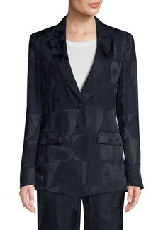 Escada Barma Logo Suit Jacket