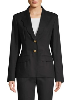 Escada Barmai Scalloped-Trim Blazer