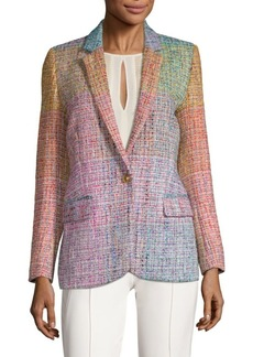 Escada Baurent Wool-Blend Tweed Blazer