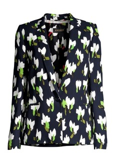 Escada Baurento Abstract Floral Blazer