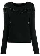 Escada beaded knit jumper