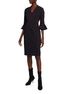 Escada Bell-Sleeve Sheath Dress