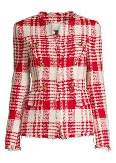 Escada Betlu Fringe Tweed Jacket