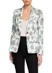 Escada Bikinati Floral-Paisley Blazer Jacket