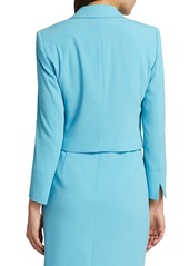 Escada Bolli Cropped Crepe Jacket