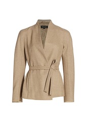 Escada Boncoti Shawl Collar Wrap Jacket