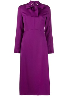 Escada bow neckline dress