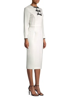Escada Bow Sheath Dress