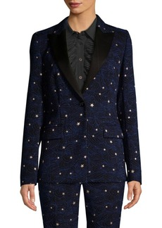 Escada Brekka Starry Night One-Button Jacket
