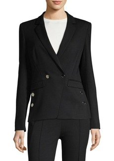 Escada Bridget Button Trim Blazer