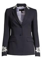 Escada Brikenanti Embroidered Blazer Jacket