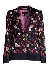 Escada Brikenanton Floral Crepe Blazer Jacket