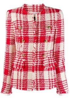 Escada button-embellished tweed jacket