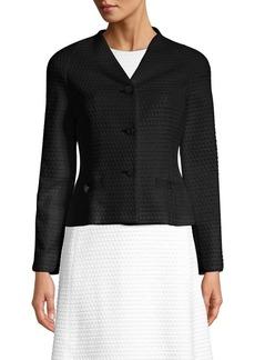 Escada Byheartya Jacquard Button Front Jacket