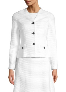 Escada Byheartya Jacquard Button Front Jacket