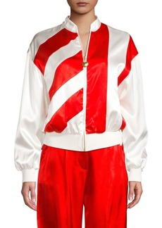 Escada Candy Stripe Bomber Jacket