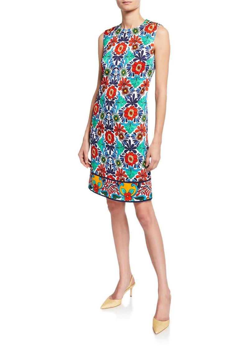 Escada Ceramic-Print Sheath Dress