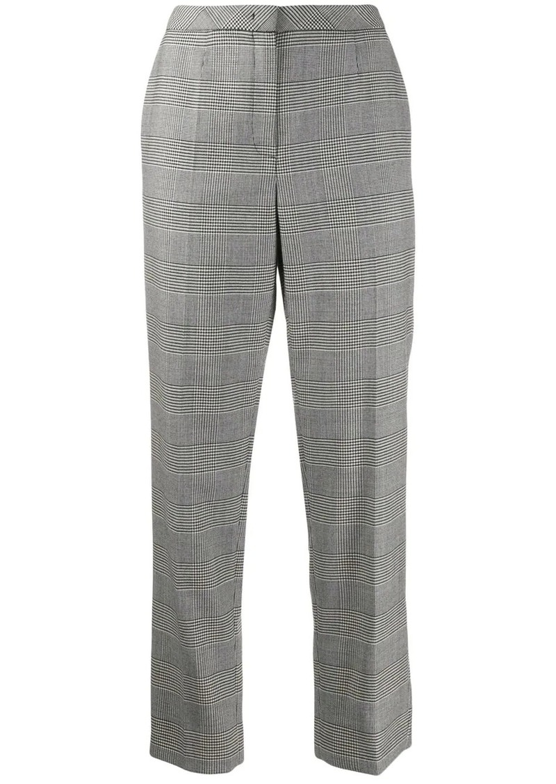 Escada check print cropped trousers