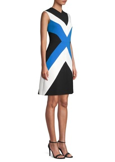 Escada Chevron Stripe Sheath Dress