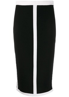 Escada colour block pencil skirt
