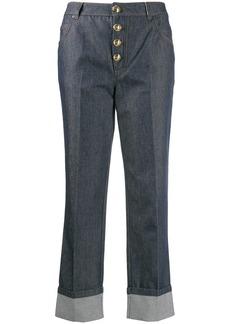 Escada cropped button jeans