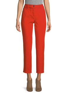 Escada Cropped Cotton-Blend Jeans