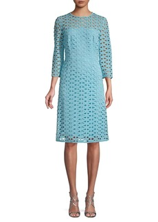 Escada Cut-Out Cotton Blend A-Line Dress