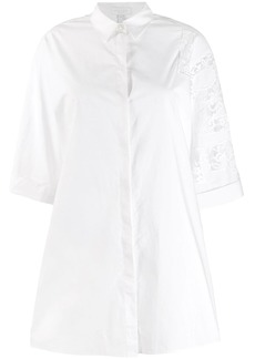 Escada cut out lace shirt