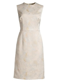 Escada Dahnia Sleeveless Jacquard Sheath Dress
