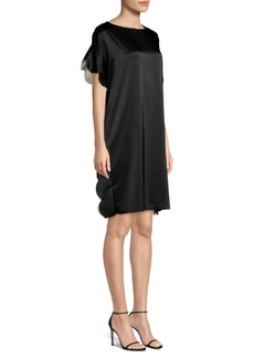 Escada Dalanari Satin Scallop Edge Tunic Dress