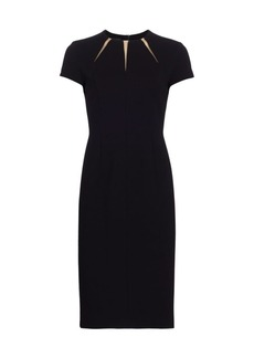 Escada Daylor Sunburst Jersey Sheath Dress