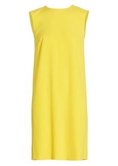 Escada Dehilla Sleeveless Pleat-Back Shift Dress