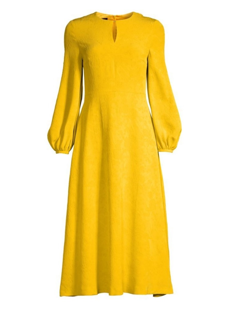 Escada Dehla Silk Jacquard Midi Dress
