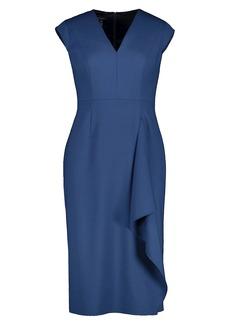 Escada Dehsias Stretch-Wool Draped Sheath Dress
