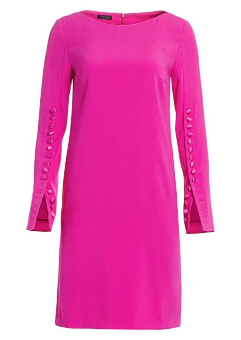 Escada Dehva Button-Trimmed Shift Dress