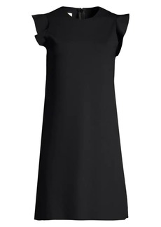 Escada Delena Flutter-Sleeve Shift Dress