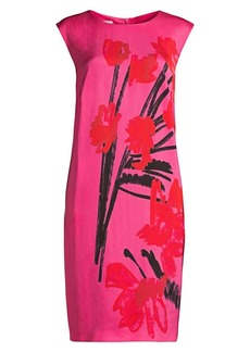 Escada Demici Printed Crepe Shift Dress