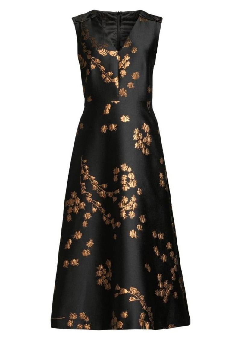 Escada Demmiwa Floral Jacquard Midi Dress