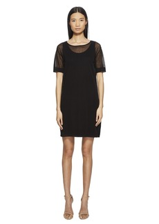 Escada Desheer Short Sleeve Dress