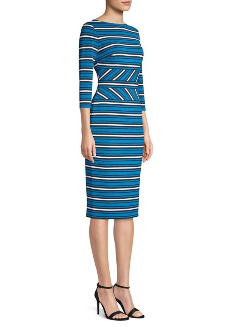 Escada Dhruvi Striped Sheath Dress