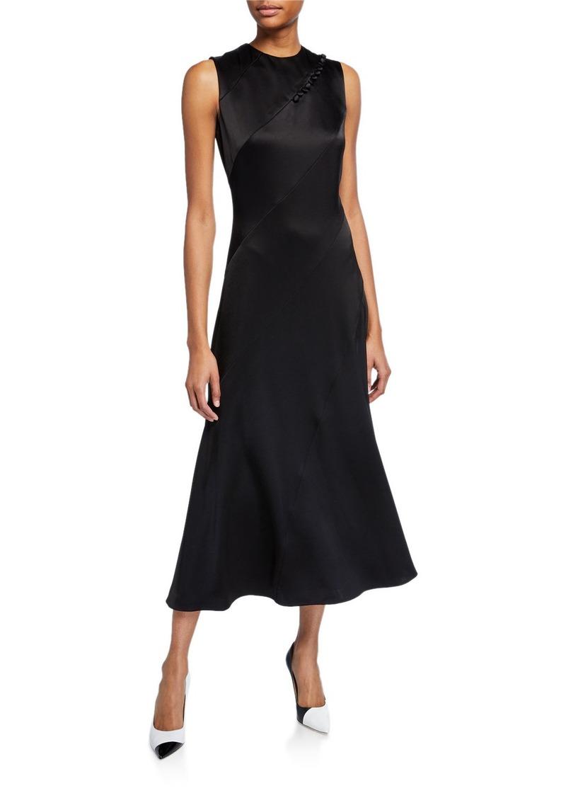 Escada Diagonal-Seamed Bias Midi Dress