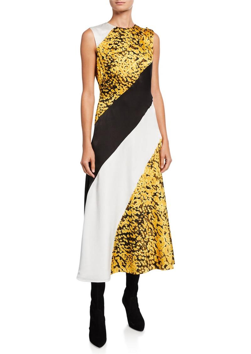 Escada Diah Multicolor-Blocked Midi Dress